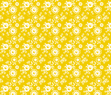 Fleur Yellow fabric by carinaenvoldsenharris on Spoonflower - custom fabric