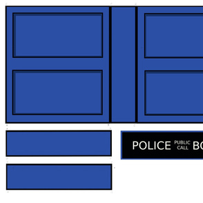 Police Box Messenger Bag Cut-and-sew Medium