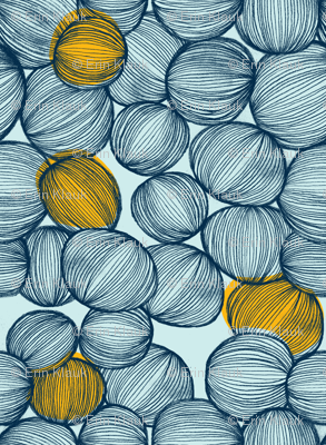 Onions in Blue and Gold
