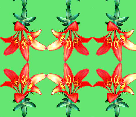 Sea Cairn Lily II fabric by robin_rice on Spoonflower - custom fabric