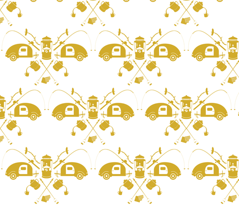 camping-olive fabric by bunnypumpkin on Spoonflower - custom fabric