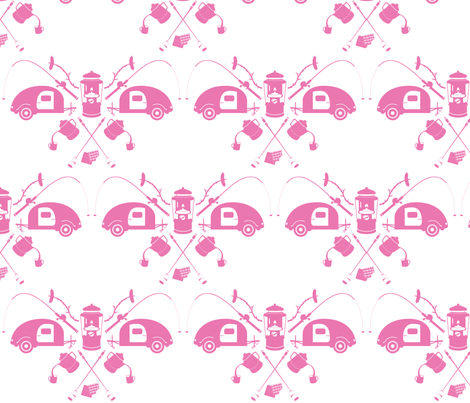 camping-sherbet fabric by bunnypumpkin on Spoonflower - custom fabric
