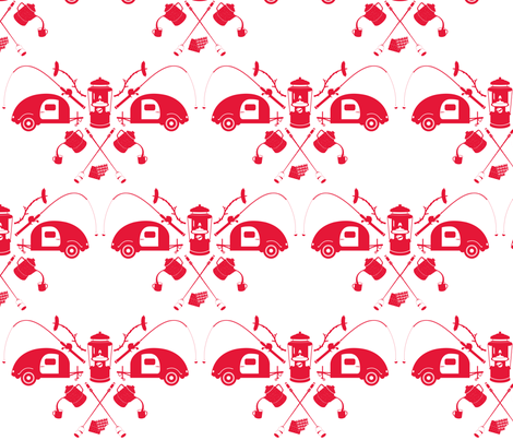 camping-saffron fabric by bunnypumpkin on Spoonflower - custom fabric