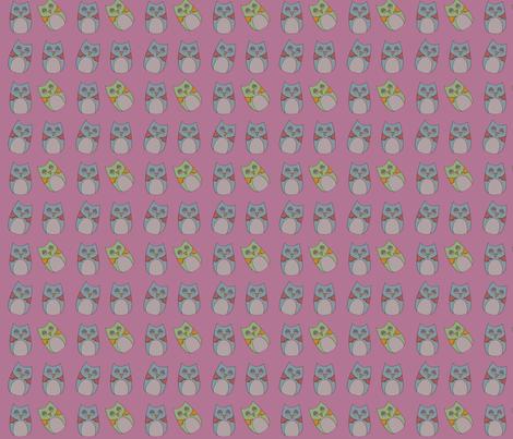 sleepy_owls fabric by phatsheepfabrics on Spoonflower - custom fabric