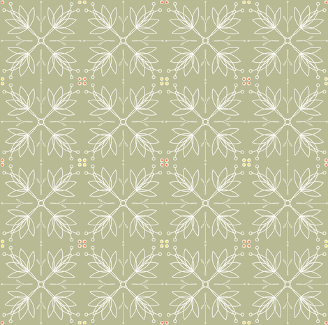Lotus in Taupe - © Lucinda Wei fabric by lucindawei on Spoonflower - custom fabric