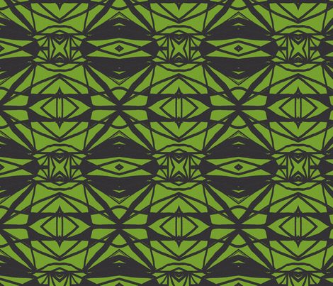 StainedGlazGreen fabric by mbsmith on Spoonflower - custom fabric