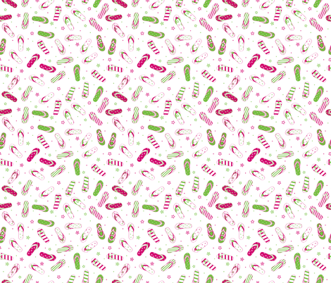 Stars, Stripes & Flip Flops Pink/Lime XS - © Lucinda Wei