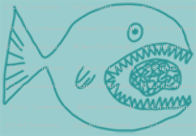 Fish eats brain