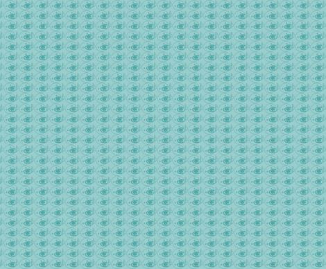Fish eats brain fabric by quinnanya on Spoonflower - custom fabric