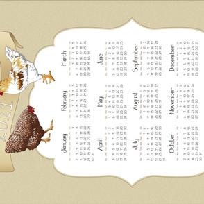 2011 Calendar - Jacki's Rooster - LINEN