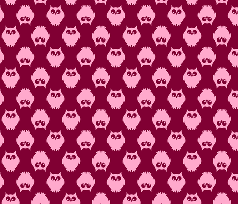 Owls, Owls, Owls fabric by wollhuhn on Spoonflower - custom fabric