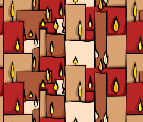 Candle Dripping fabric by isabelc on Spoonflower - custom fabric