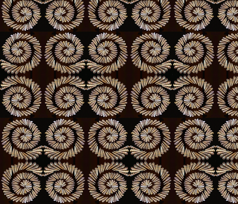 spiral shells saturated fabric by uzumakijo on Spoonflower - custom fabric