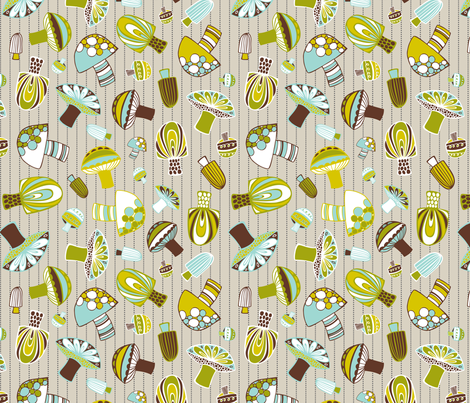 Fantastical Fungi fabric by heatherdutton on Spoonflower - custom fabric