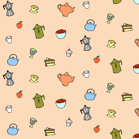in the kitchen fabric by katherinecodega on Spoonflower - custom fabric