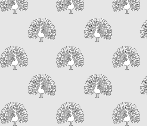 peacockbw fabric by mrshervi on Spoonflower - custom fabric