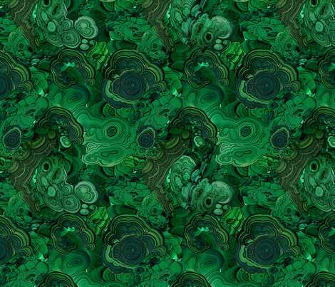 Malachite 2 fabric by ravynka on Spoonflower - custom fabric