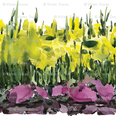 "C'EST LA VIVâ""¢ Border Collection_Running Daffodils 28"