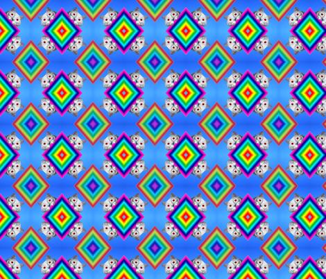 Voyeur Cat's Rainbows Version 1 fabric by kitcameo on Spoonflower - custom fabric