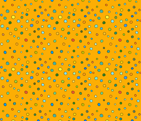 small dots in orange fabric by aprilmariemai on Spoonflower - custom fabric