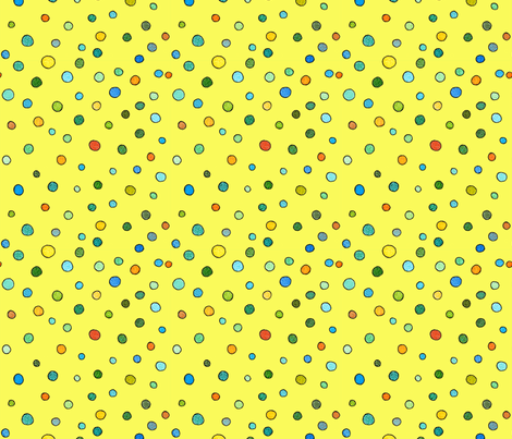 small dots in yellow fabric by aprilmariemai on Spoonflower - custom fabric
