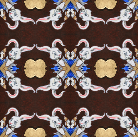 The White Rabbit fabric by kitcameo on Spoonflower - custom fabric