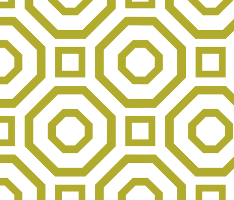 Geometry Olive fabric by alicia_vance on Spoonflower - custom fabric