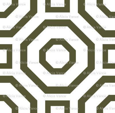 Geometry Dark Olive