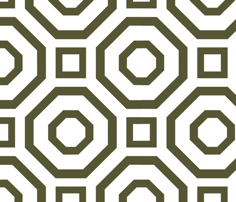 Geometry Dark Olive  fabric by alicia_vance on Spoonflower - custom fabric