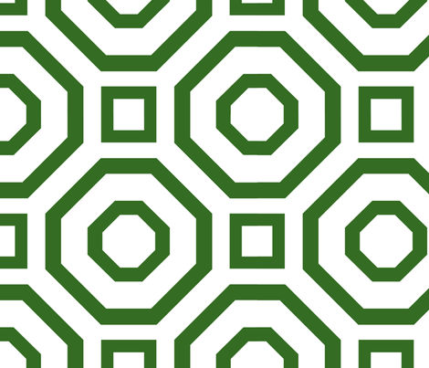 Geometry Green fabric by alicia_vance on Spoonflower - custom fabric