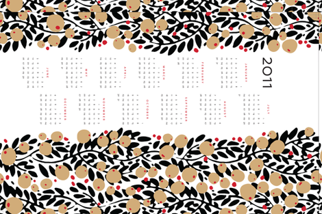 garland calendar towel fabric by monmeehan on Spoonflower - custom fabric