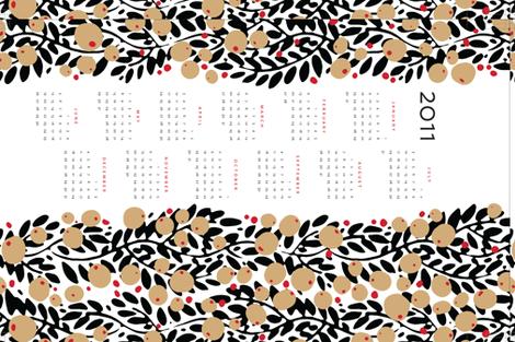 garland calendar towel fabric by monmeehan on Spoonflower - custom fabric