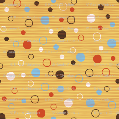 Blast dots on yellow