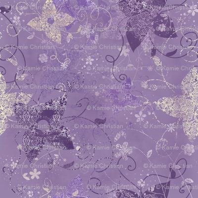 Vintage Garden Purple