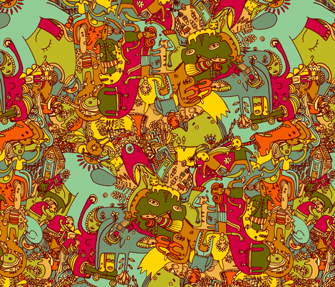 kuosi fabric by ruusulampi on Spoonflower - custom fabric