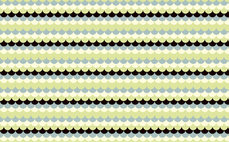 Waves blue green fabric by feinstarbeiten on Spoonflower - custom fabric