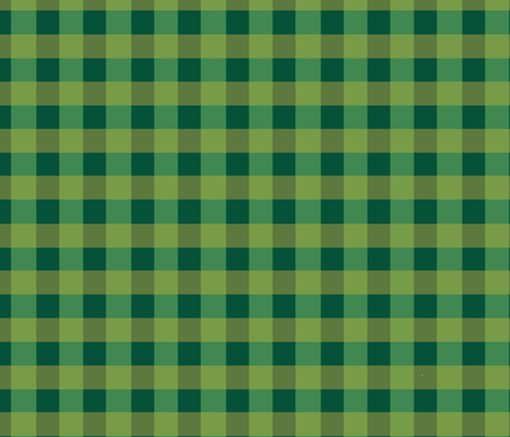 Green Plaid fabric by asilo on Spoonflower - custom fabric