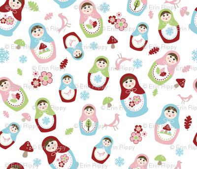 Matryoshka Dolls - 4 Seasons