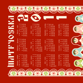 2011 Matryoshka Calendar - Pink