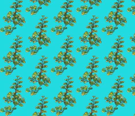 fern in blue fabric by aprilmariemai on Spoonflower - custom fabric
