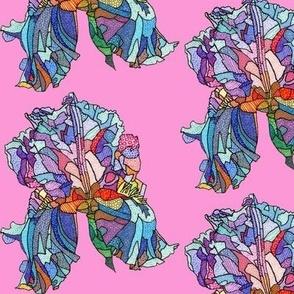 iris in pink