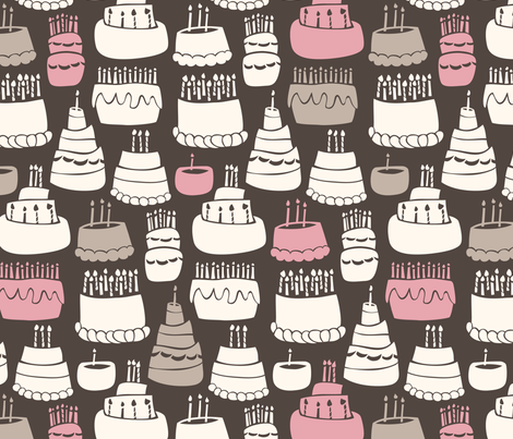 Gooey Birthday fabric by auki on Spoonflower - custom fabric