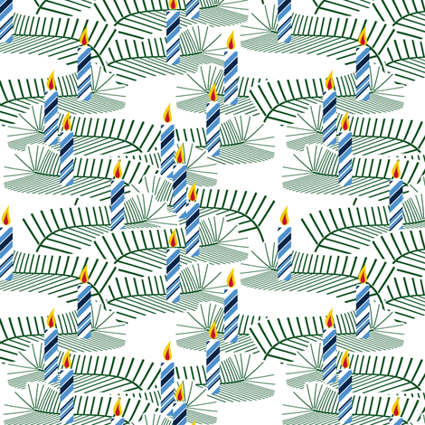 Well Lit - Winter Blues fabric by inscribed_here on Spoonflower - custom fabric