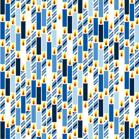 Candle Candy - Winter Blues fabric by inscribed_here on Spoonflower - custom fabric