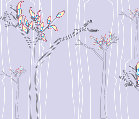 The Light Forest fabric by majobv on Spoonflower - custom fabric