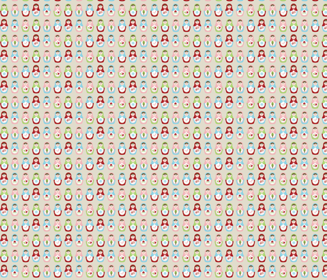Matryoshka Dolls - Small fabric by inktreepress on Spoonflower - custom fabric