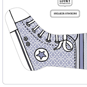 Happy Sew Lucky Sneaker stocking - BLUE