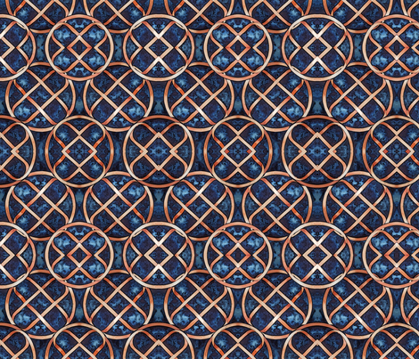 Knot Number One Mirror fabric by helenklebesadel on Spoonflower - custom fabric