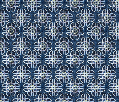 Borromean Knot Two fabric by helenklebesadel on Spoonflower - custom fabric
