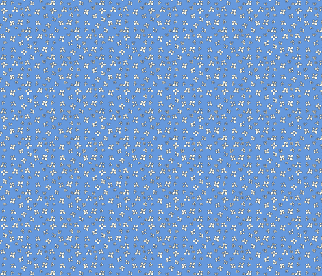 Flowers in blue fabric by catru on Spoonflower - custom fabric